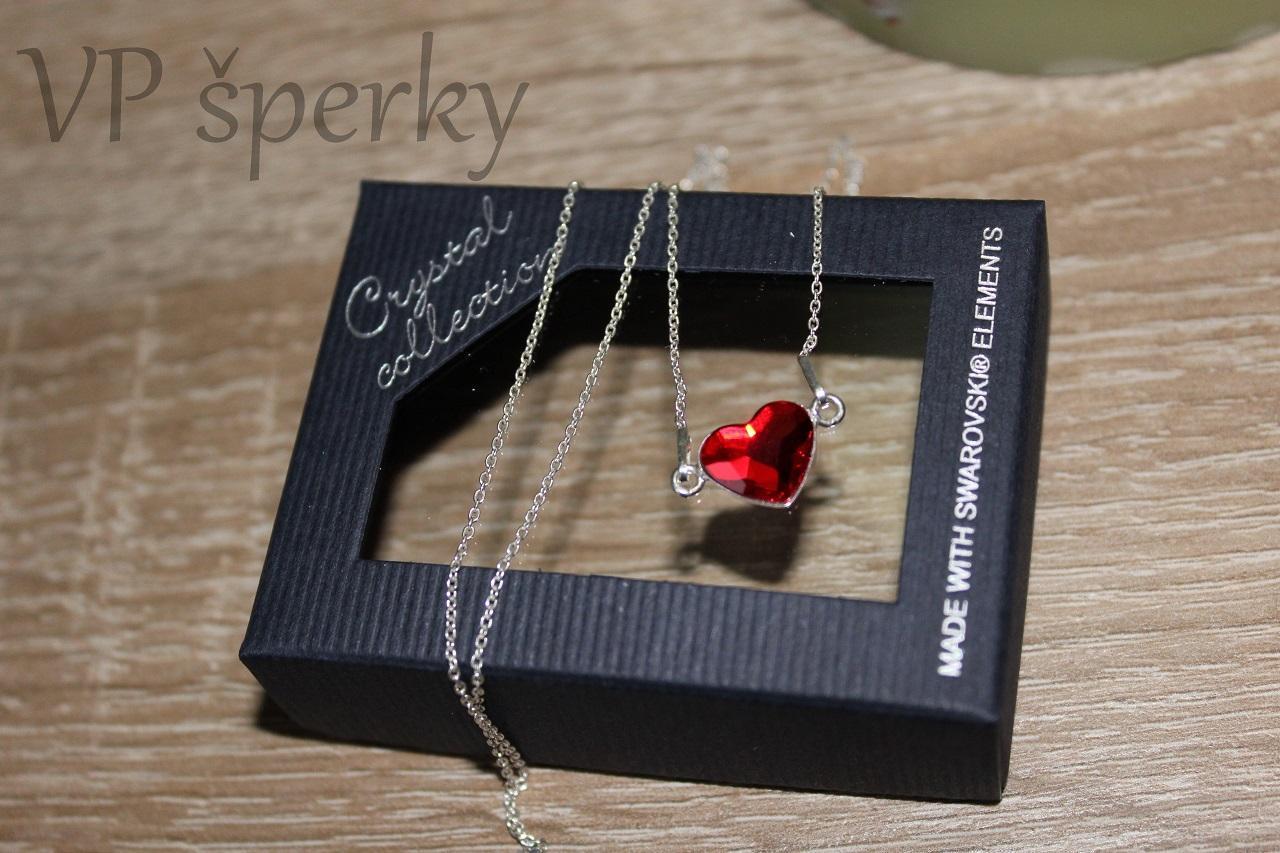 fa8b046f7 Valentín | Strieborná retiazka so srdiečkom Swarovski crystals ...
