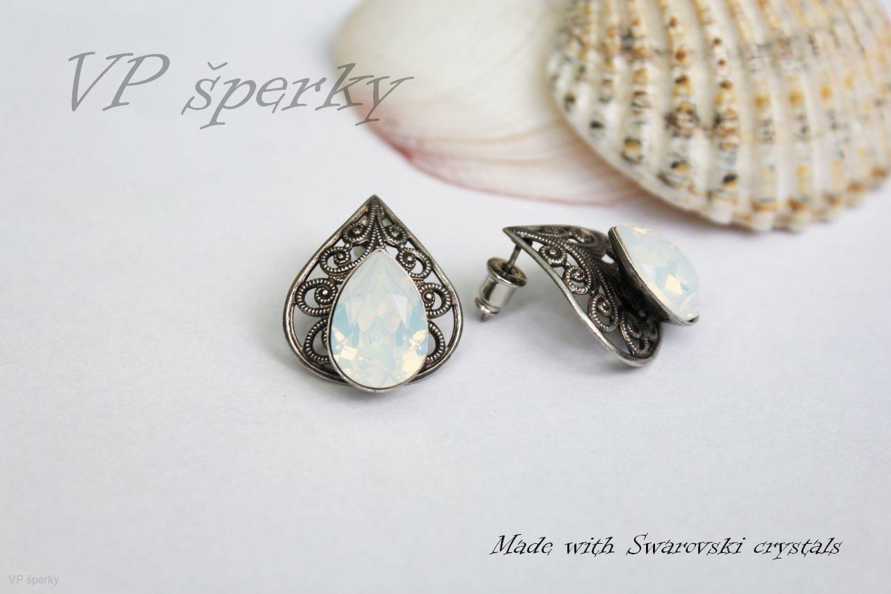 cbdadbf82 Romantické náušnice Swarovski crystals